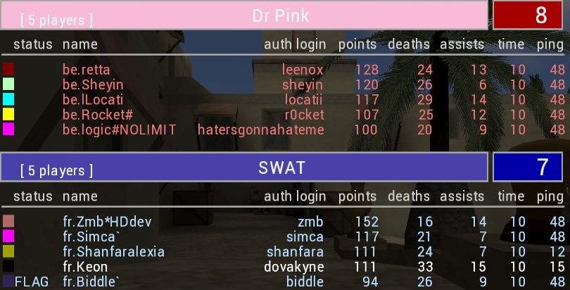 Screenshot: NC XX Finale - BE vs FR - Algiers CTF I