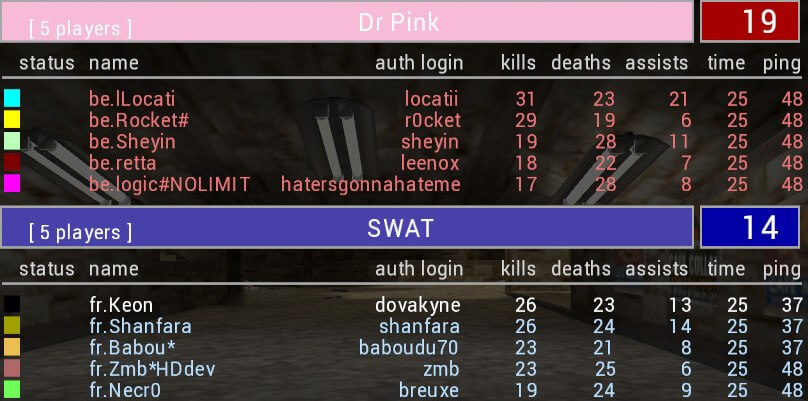 Screenshot: NC XX Finale - BE vs FR - Austria TS